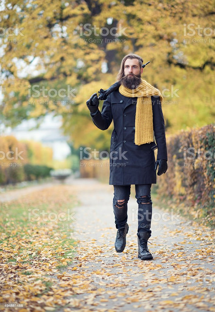 Male Fashion, Fall Colors stock photo