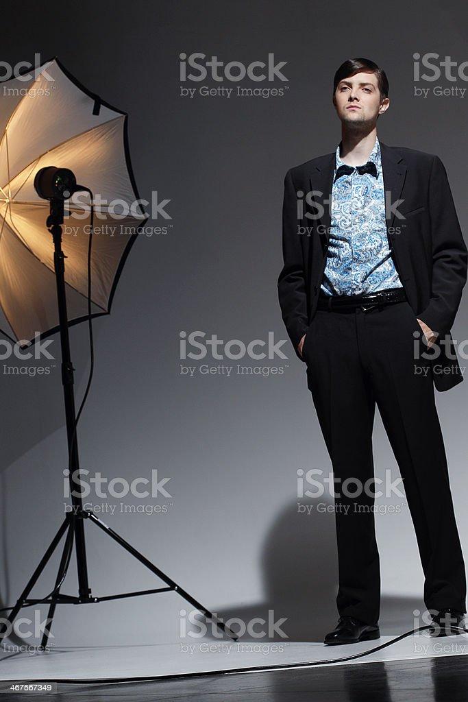 Male Fashion Model in Photo Studio royalty-free stock photo
