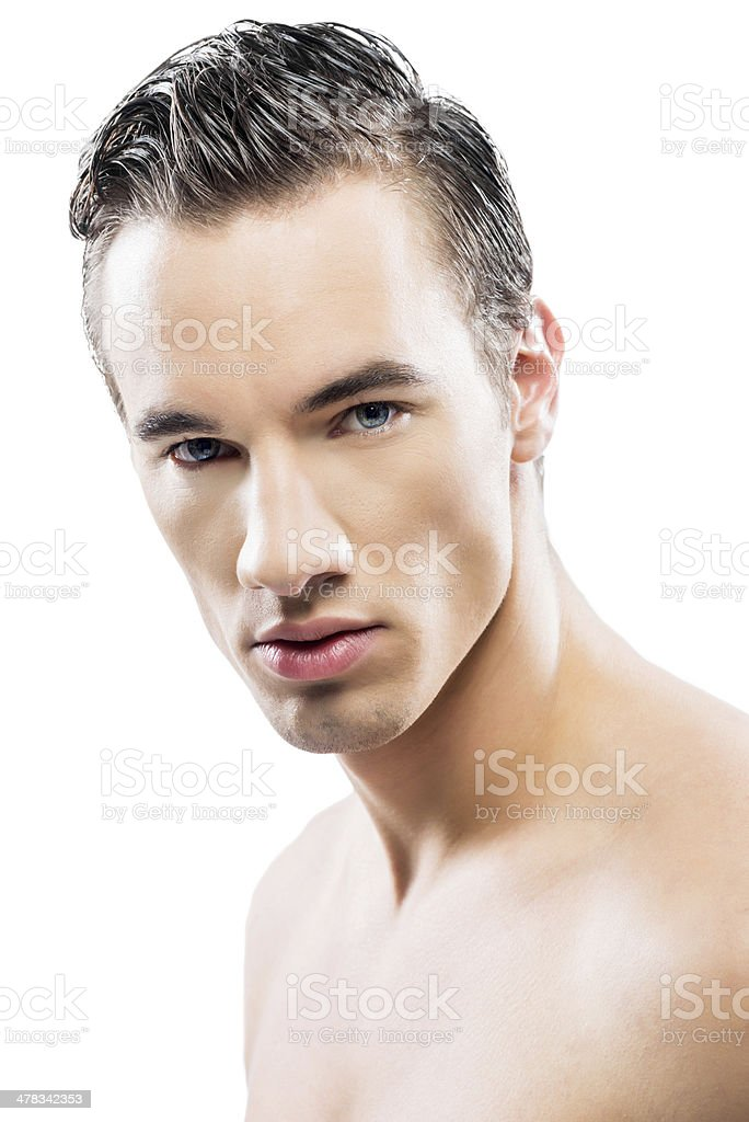 Male fashion model. royalty-free stock photo