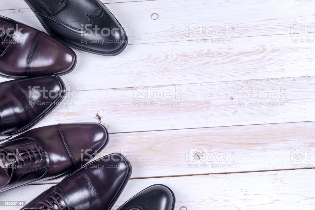 Male fashion with shoes on white foto stock royalty-free