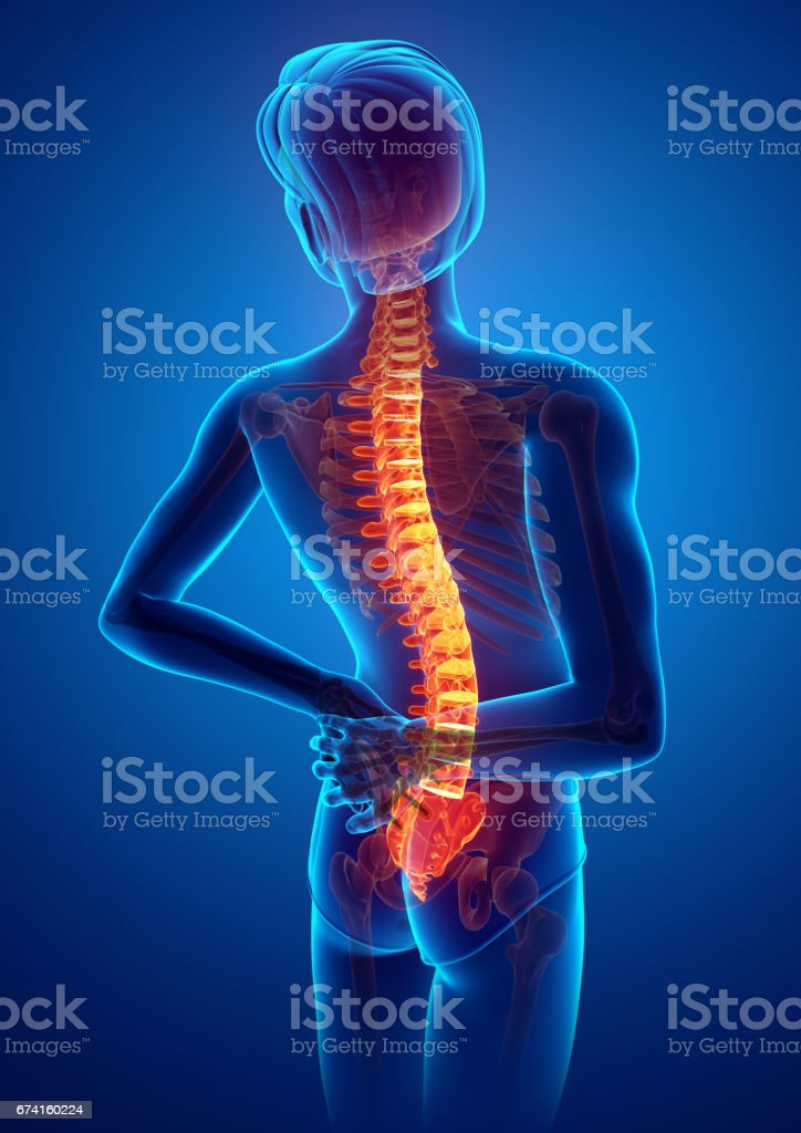 Male Feeling the back pain foto stock royalty-free
