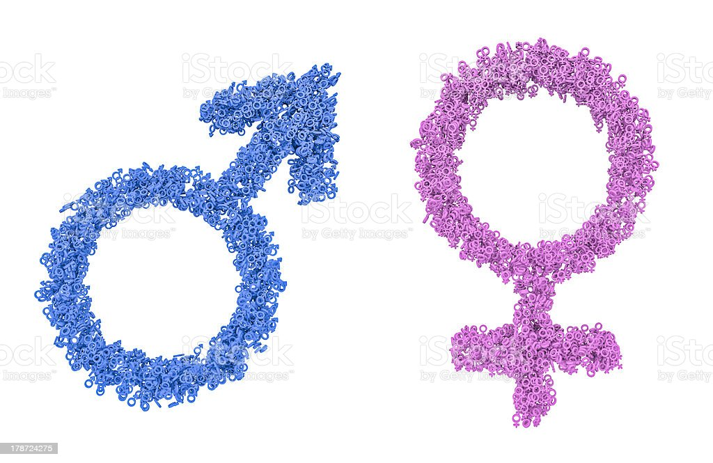 Male Female Gender Symbols Stock Photo More Pictures Of Blue Istock