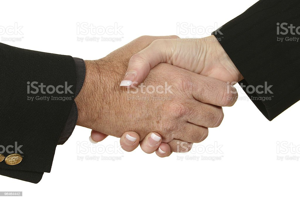 Male Female Handshake royalty-free stock photo