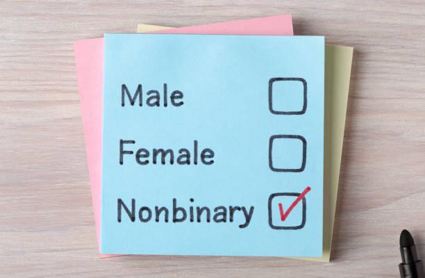남성 여성 nonbinary - 성별 뉴스 사진 이미지