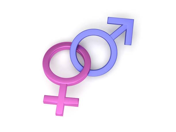 Masculino feminino símbolos - foto de acervo