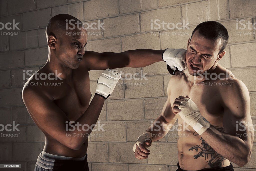 Male Fight Club royalty-free stock photo