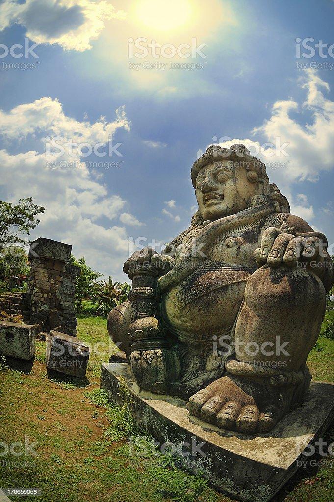 Male figure of Dwarapala Statue stock photo