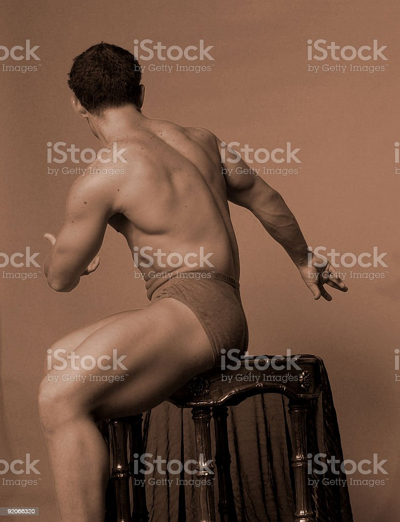 Male figure royalty-free stock photo