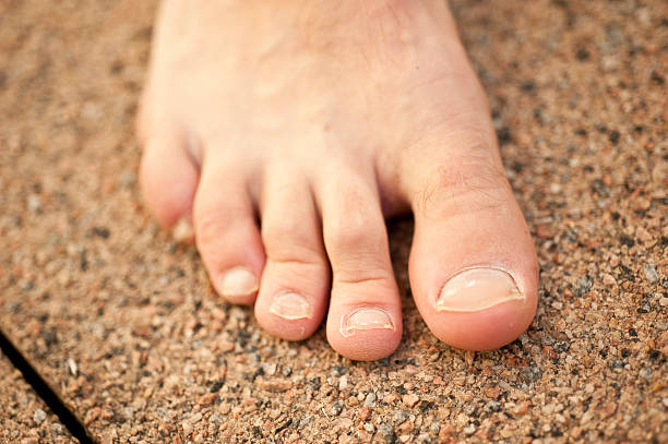 Male Foot stock photo