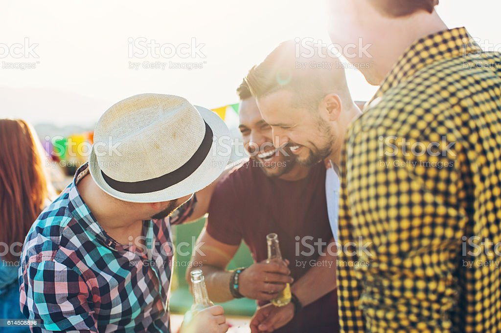 Male friendship stock photo