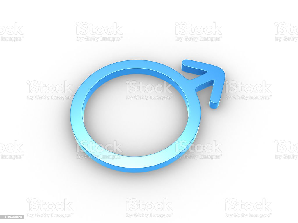 Male gender symbol stock photo