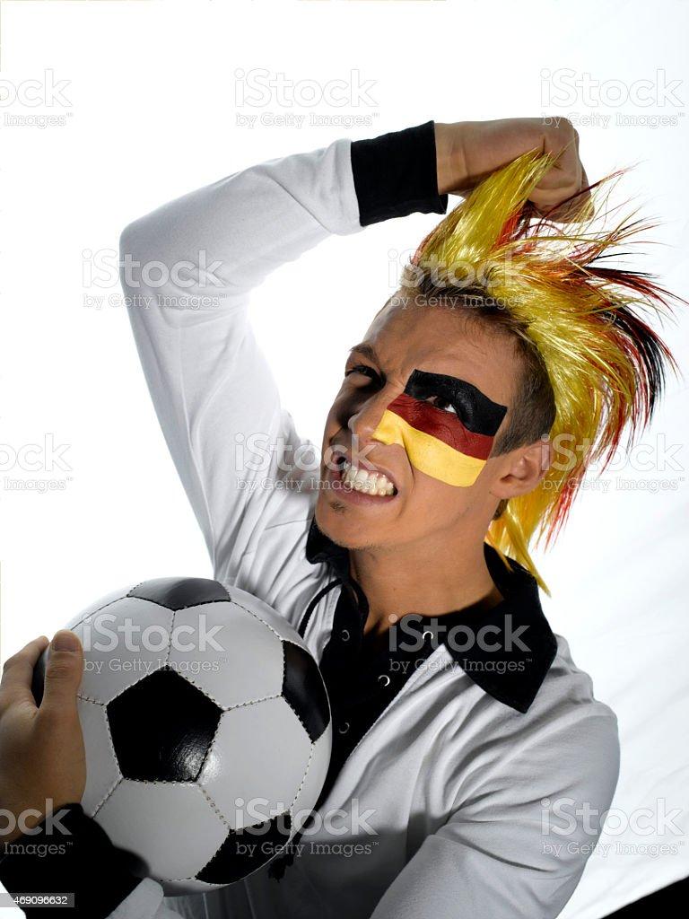 Male german soccer fan stock photo