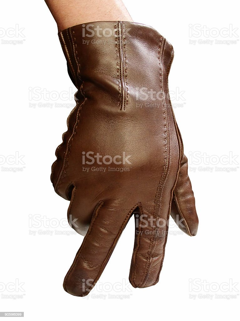 Male glove royalty-free stock photo