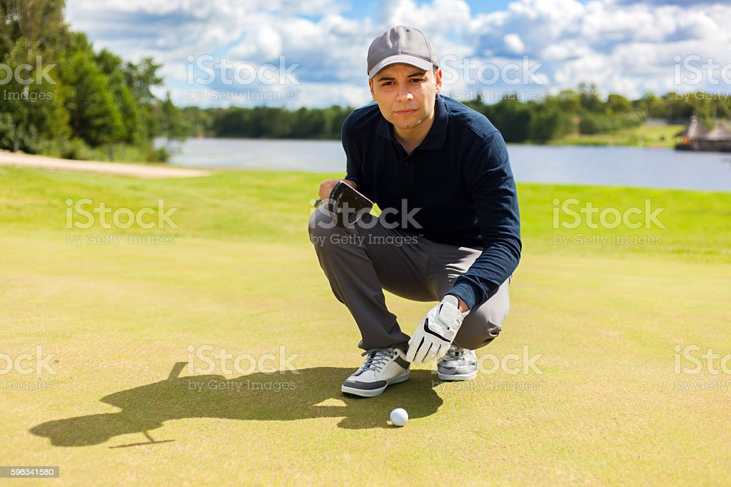 Male golfer royalty-free stock photo