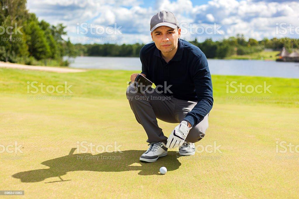 Männliche-Golfspieler Lizenzfreies stock-foto