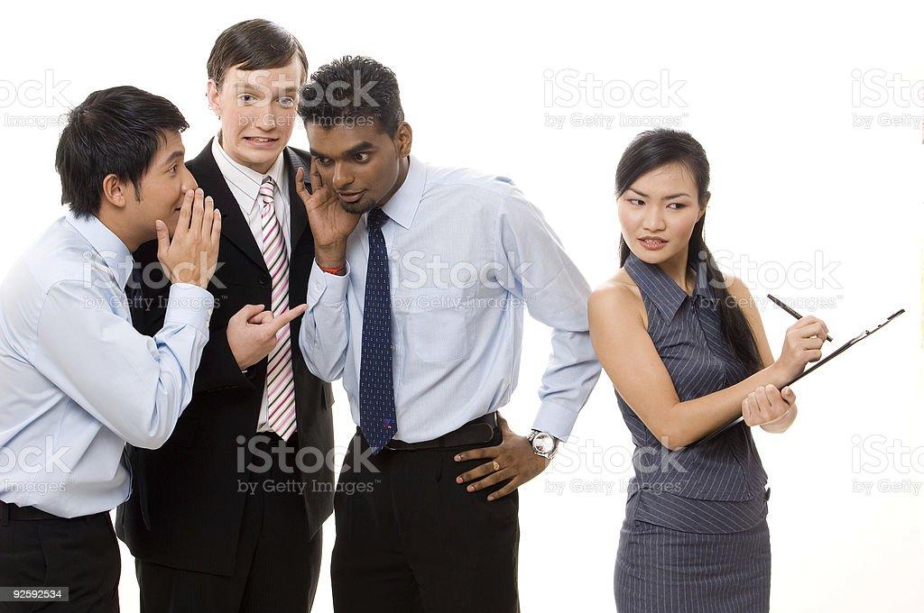 Male Gossips 2 stock photo