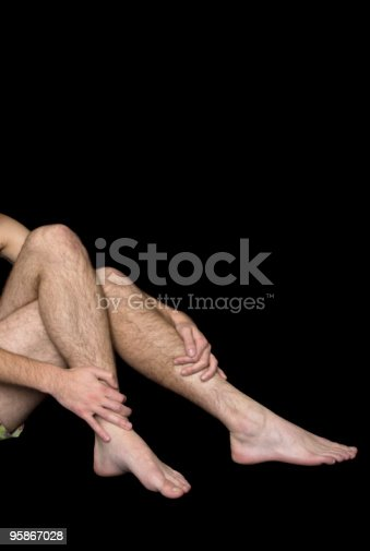 istock Male hairy legs and arms 95867028