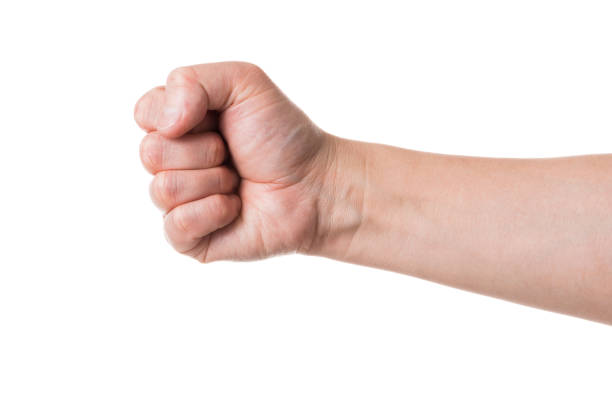 male hand body parts - fist stock photos and pictures