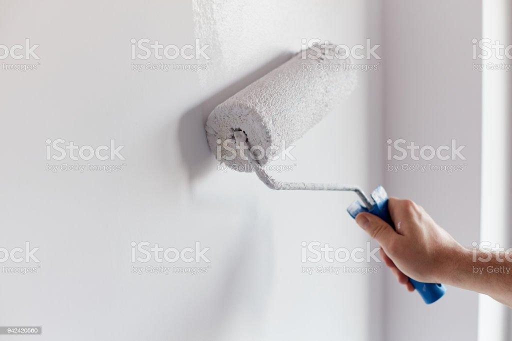 Photo Libre De Droit De Hommes De Main Peinture Mur Avec