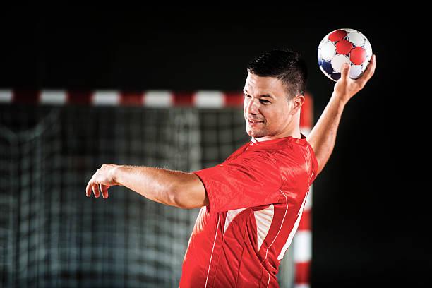 male handball player. - handboll bildbanksfoton och bilder