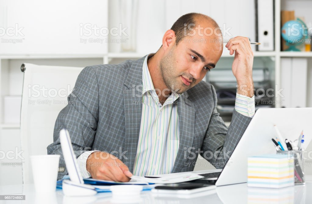 Male having lot of work and problems - Royalty-free Achievement Stock Photo