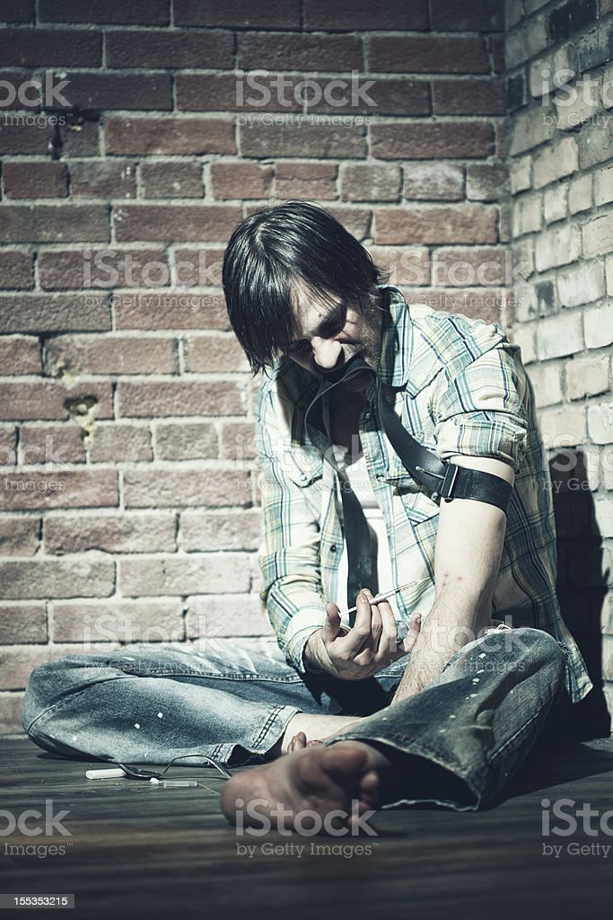 Male Heroin Addict royalty-free stock photo
