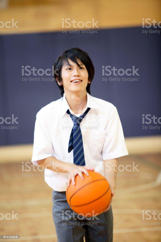 男高中生要射殺 免版稅 stock photo