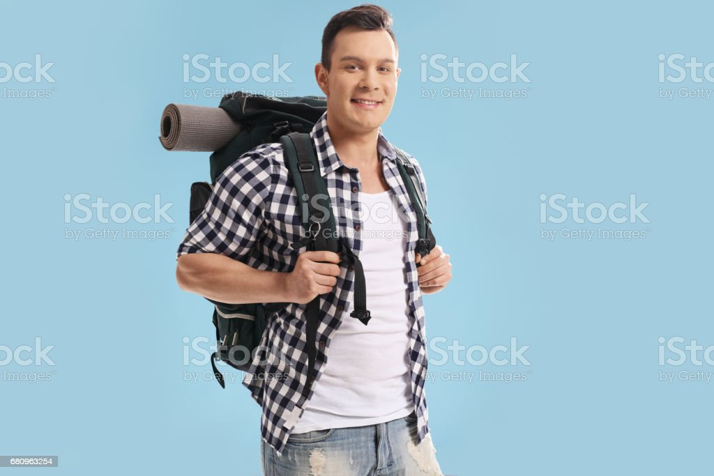 Male hiker royalty-free stock photo