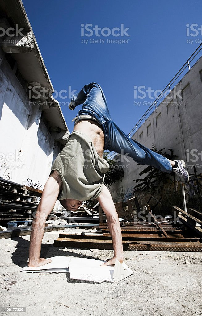 Male Hip Hop Dancer royalty-free stock photo
