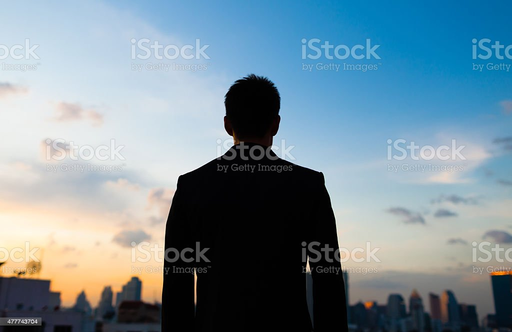Male in the city. stock photo