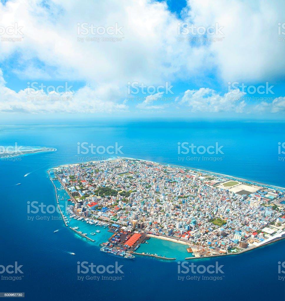 Male island in the Maldives stock photo