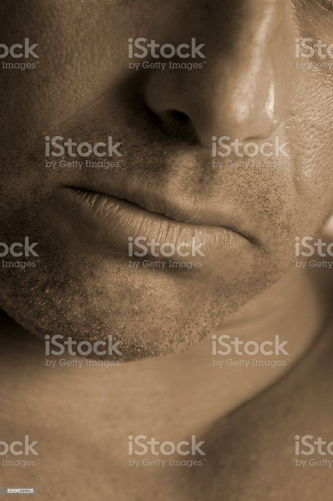 male jawline royalty-free stock photo