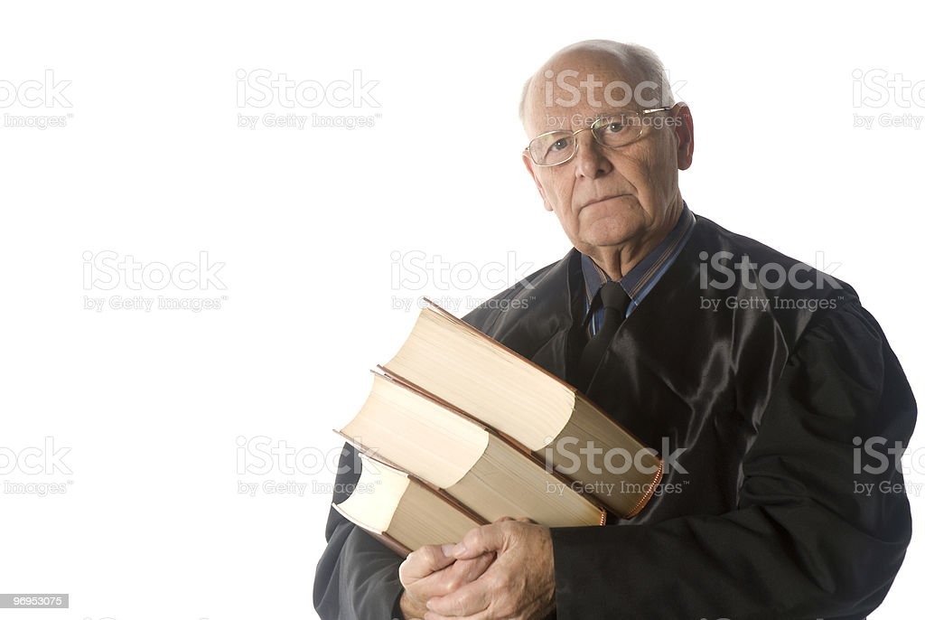 Male judge portrait royalty-free stock photo