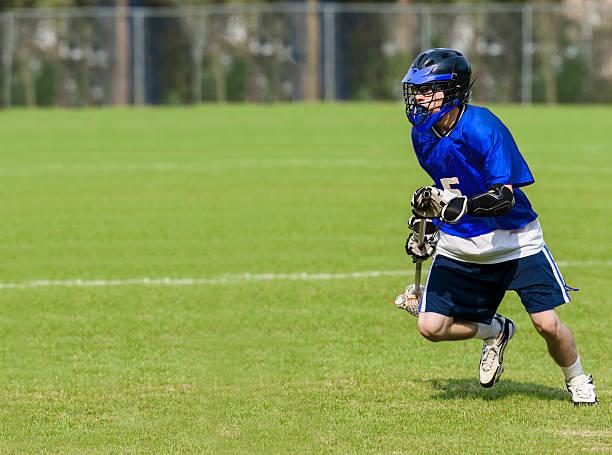 mężczyzna lacrosse player - kij do gry w lacrosse zdjęcia i obrazy z banku zdjęć