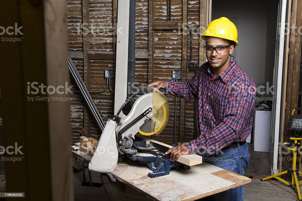 Male latino construction worker royalty-free stock photo