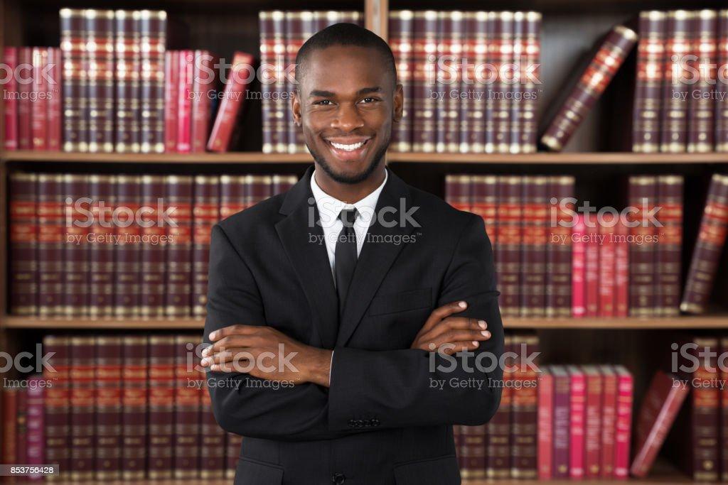 Männliche Rechtsanwalt im Büro – Foto