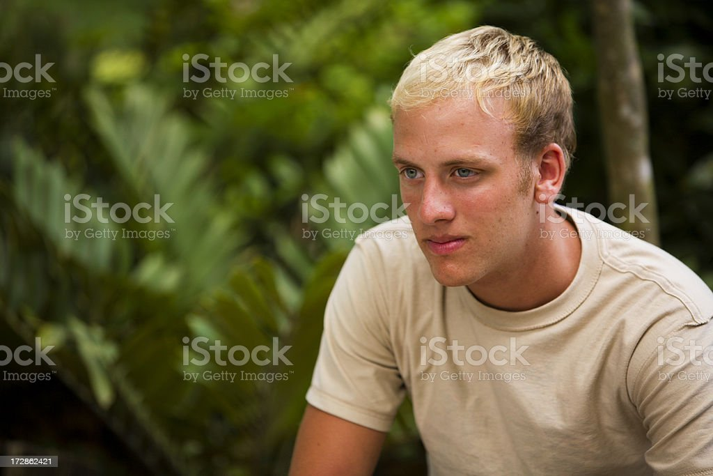 Male looking on royalty-free stock photo
