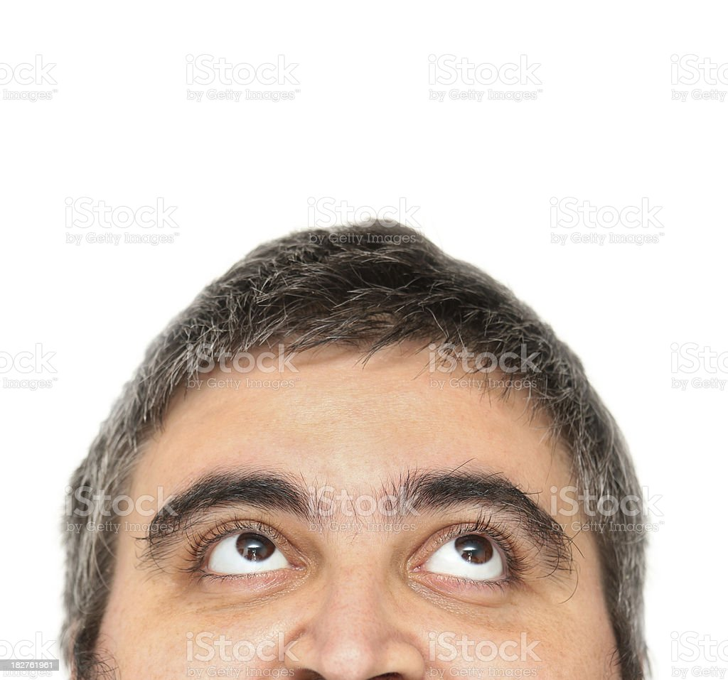Male looking up royalty-free stock photo