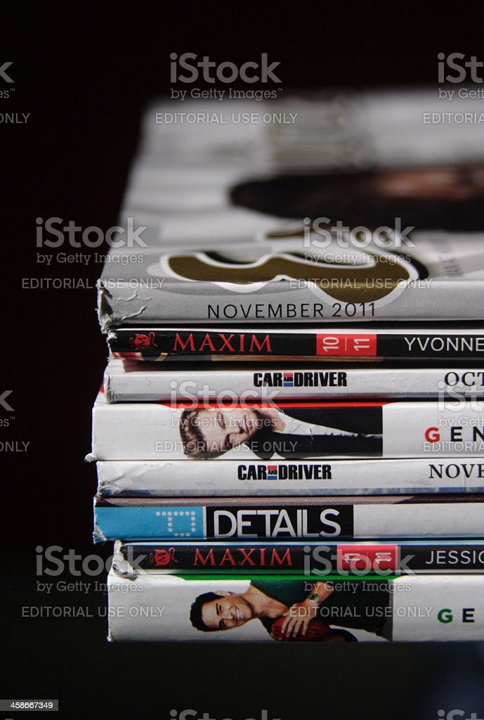 Masculine Magazines stock photo