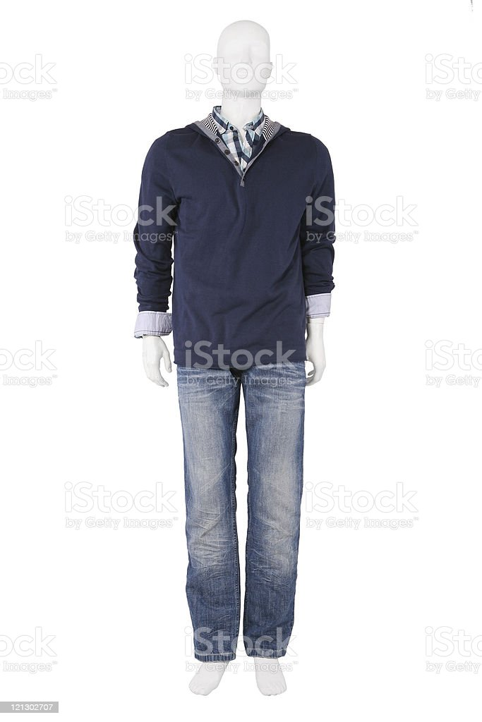 Male mannequin dressed in casual clothes royalty-free stock photo