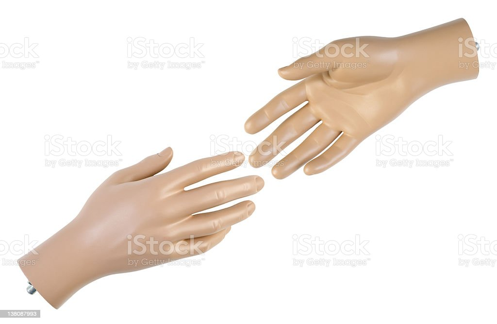 Male mannequin hand | Isolated stock photo