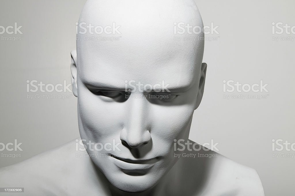 Male Mannequin Head no3 royalty-free stock photo