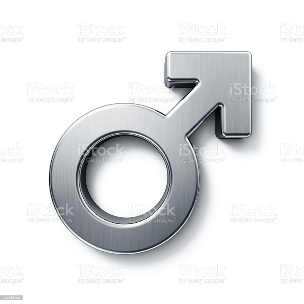 male mars sign stock photo
