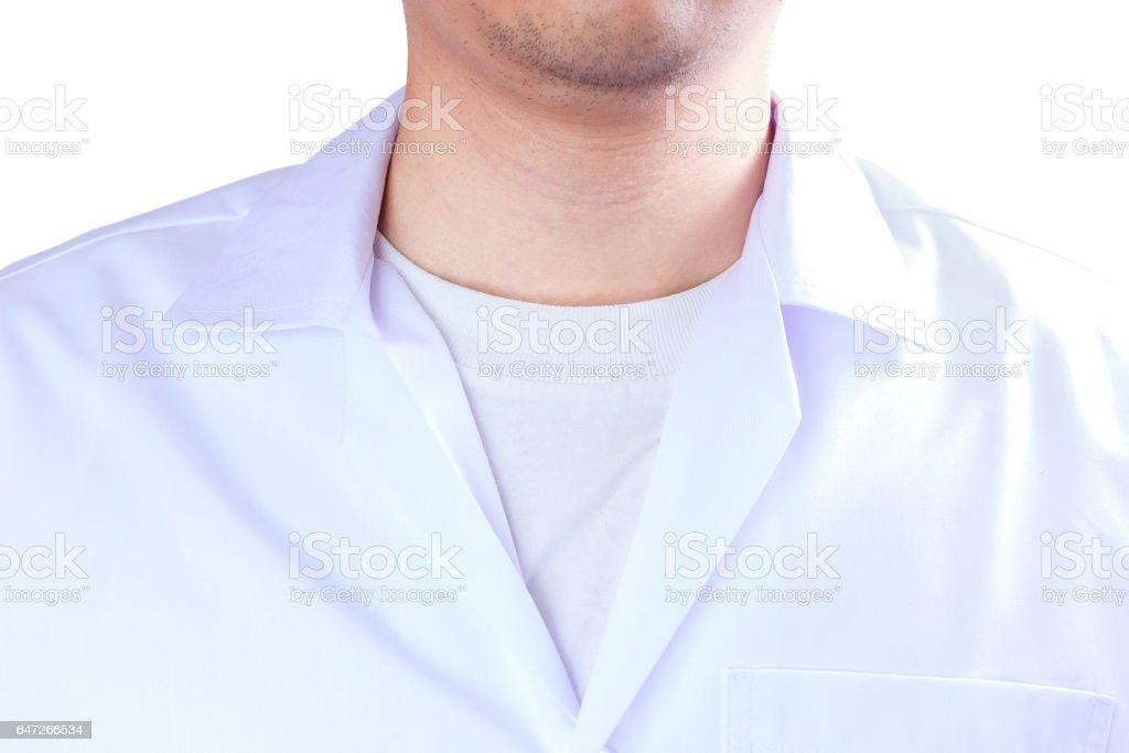 Male medicine therapeutist doctor 's chest stock photo