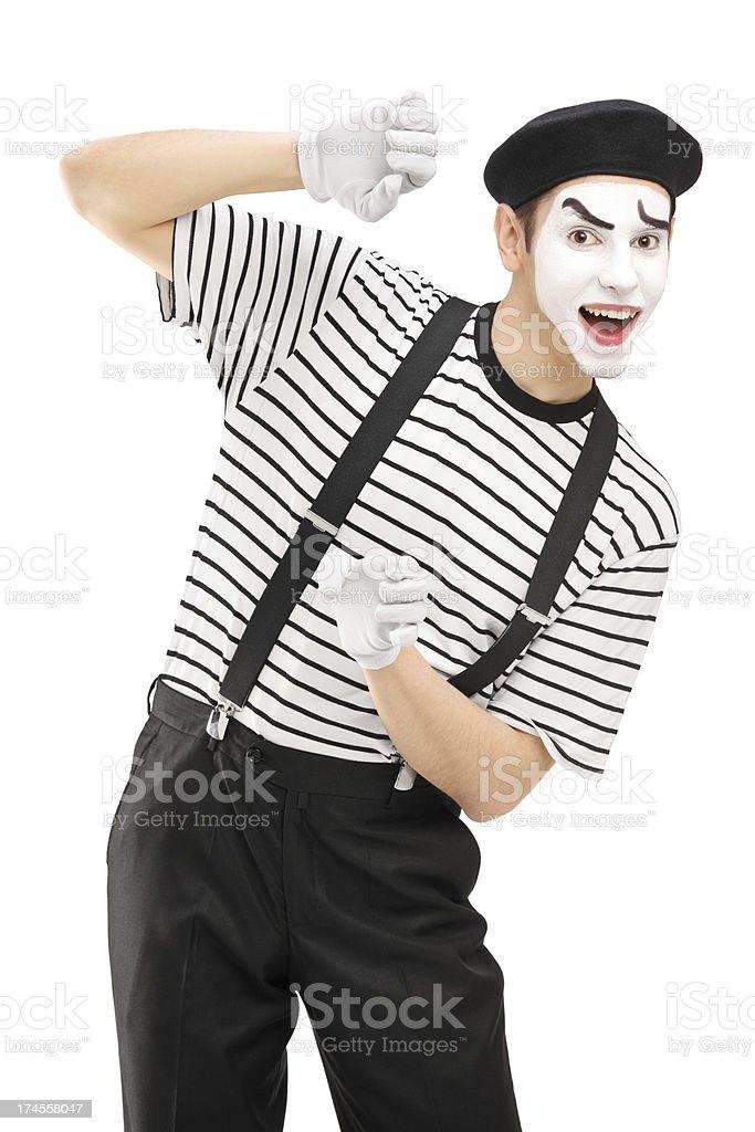 雄 mime アーティスト身ぶり コメディアンのストックフォトや画像を