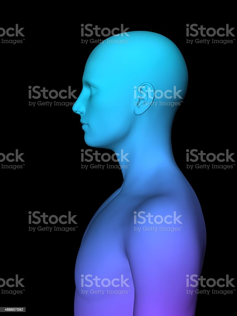 3D male mode stock photo