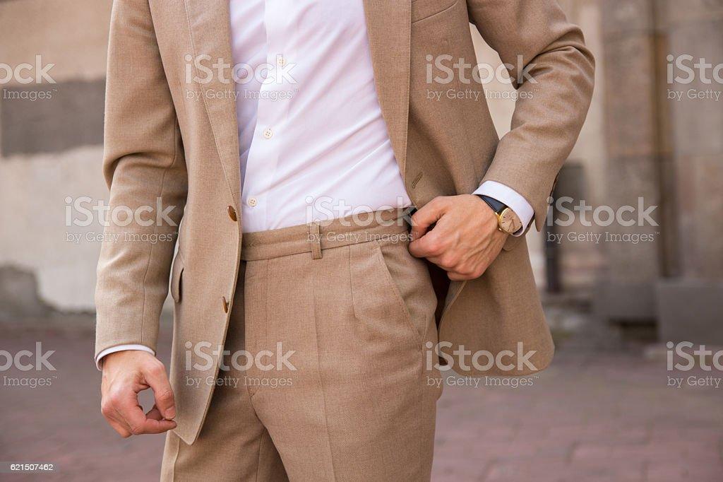 male model in a vintage suit photo libre de droits