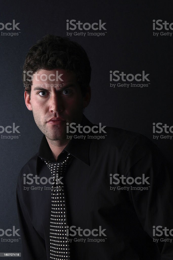 Male model Shot On Black royalty-free stock photo
