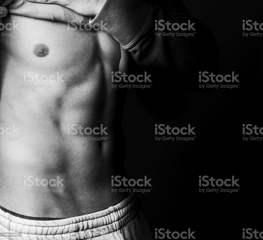 Male model showing his body stock photo
