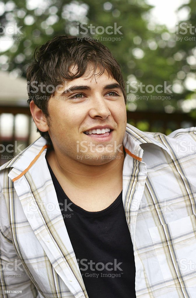 Male model smiling royalty-free stock photo